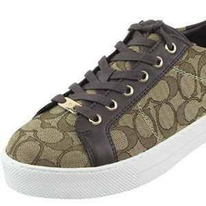 Coach Size 9.5 M PADDY Khaki New Womens Sneakers